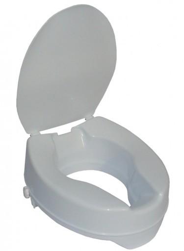Toilettensitzerhöhung mit Deckel