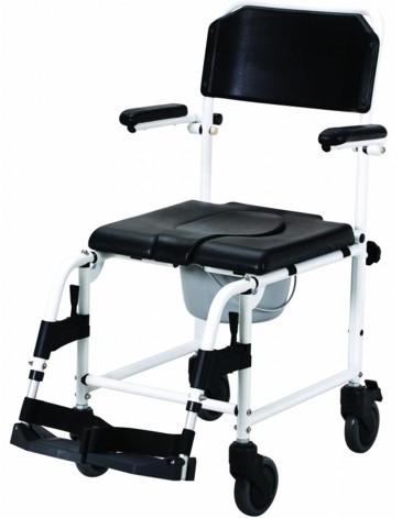 Dusch-Toildetten-Stuhl mit Rädern