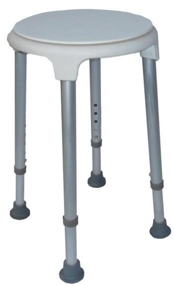 Duschhocker mit drehbarer Sitzscheibe